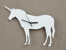 Unicorn Silhouette White - Wall Clock