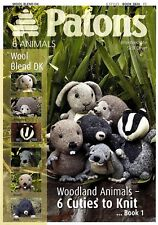 Patons Knitting Patten Book 1 3824 knitted Woodland Animals