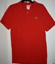 LACOSTE LIVE Men's Polo Shirt Size 5 Medium Red