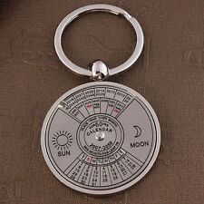 Personalisiert Schlüsselanhänger Immerwährender Kalender Muster aus Edelstahl