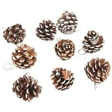 9 Real Natural Small Pine cones for Christmas Craft Decorations White Paint MKLG