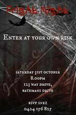 Diy Print Custom Halloween Scary Ghost Fright Night Birthday Party Invitations