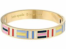 Kate Spade Born to Fly Bracelet NWT Multitude of Stripes in Vibrant Colors