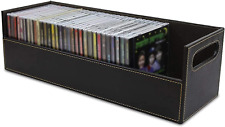 Cd Cases Storage Box Dvd Organizer Media Shelf Tray Holder Rack Magnetic Opening