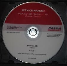 CASE FARMALL 30C 35C COMPACT TRACTOR SERVICE SHOP REPAIR CD MANUAL
