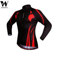 Men's Cycling Jersey Long Sleeve MTB Bike Riding Sportswear Elastic Tops Shirts