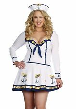 "DREAMGIRL ""MAKIN WAVES"" SAILOR GIRL ADULT HALLOWEEN COSTUME SIZE PLUS 1X/2X"