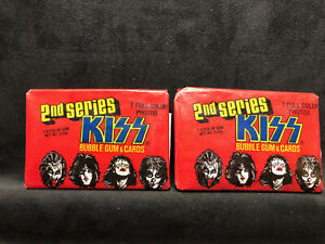 Vintage 1978 KISS 2nd Series - 2 Wax Packs - RARE