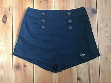 HOLLISTER LADIES NAVY BLUE 'SO CAL STRETCH' HIGH WAISTED SHORTS - UK24-25 (1)