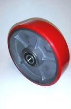 "Pallet Jack Steer Wheel Caster 7"" x 2"" Solid Ultra Polyurethane Nylon 20mm ID"