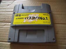 ITIO SHIGESATO NO BASS TSURI NO.1 SUPER FAMICOM JAP SNES GAME CART SATELLAVIEW