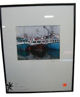 "1 Amazing Orignal Photograph Boats Of Yarmouth Signed By Artist 16"" x 20"""