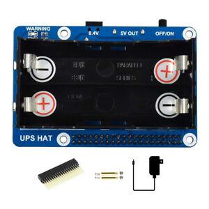 5V Stromversorgung UPS USV Modul HAT Kit für Raspberry Pi RPI 3 B Plus 4 4GB 8GB