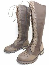 DIRTY LAUNDRY WOMEN BOOTS TALL TALE FAUX LEATHER CARAMEL  SIZE 6