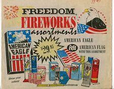 """1991 Vintage Sales Sheet: """"FREEDOM FIREWORKS"""""""