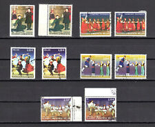 Greece 2002 Used Greek Dances Horiz. Imperforate & Perforated stamps