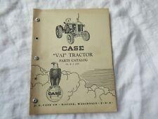 Case VA I VAI tractor parts catalog manual book