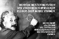 Albert Einstein Tafel Spruch 46 Blechschild Schild gewölbt Tin Sign 20 x 30 cm