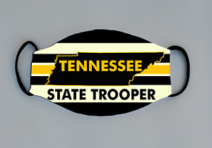 Tennessee State Trooper Reusable Face Mask LEO Trooper Deputy Sheriff TN Police