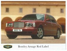 BENTLEY Arnage Red Label Pressefoto Foto Photo Photograph Frontansicht