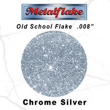 METAL FLAKE AUTO CHROME SILVER GLITTER (0.008) CUSTOM PAINT FLAKES 30GRAM 1OZ