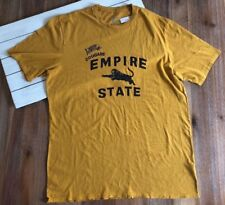 NWT J Crew Men's Empire State Cougar Graphic T Shirt in Mustard Yellow - XL Tall