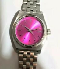 Nixon A3991972 Ladies TimeTeller Watch With 26mm Pink Face & Silver Breclet