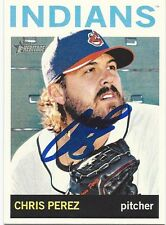 Los Angeles Dodgers CHRIS PEREZ Signed Heritage Card