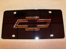 Chevy License Plate Black/Silver Brand NEW!!
