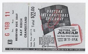1977 Daytona 500 Ticket Stub Cale Yarborough Rare HTF