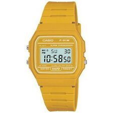 Casio F-91WC-9AEF Mens Retro Collection Yellow Chronograph Watch RRP £22