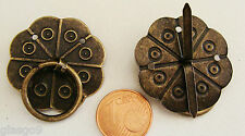 2 POIGNEE FERMETURE métal BRONZE 30mm attache parisienne Cartonnage Scrapbooking