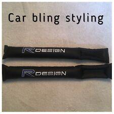 R Design Volvo Gap Filler Seat Belt Pad Seat Filler Black Faux Leather