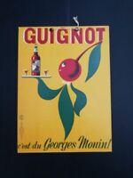 Anonymous Guignot, Georges Monin , CARTONATO Pubblicitario ORIGINALE