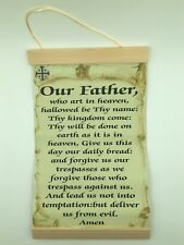 Our Father Prayer ( Catholic Version),, Canvas Wall Print, 8x12