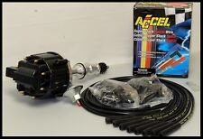FORD 351W WINDSOR HEI DISTRIBUTOR & ACCEL WIRES 6510-BK+5040-K-KIT