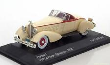 PACKARD V12 LE BARON SPEEDSTER 1934 WHITEBOX WB178 1/43 DIE CAST MODEL CREME