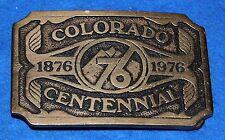 Colorado Centennial 1876 1976 Belt Buckle, Complete & Functional