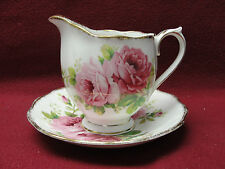 ROYAL ALBERT CHINA - AMERICAN BEAUTY Pattern - CREAMER & SAUCER (HAMPTON SHAPE)