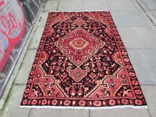 Vintage Worn Hand Made Traditional Oriental Wool Blue Red Large Rug 200x134cm