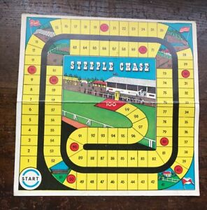 STEEPLE CHASE BOARD GAME AUSTRALIA 1930s BOARD ONLY HORSE RACING THEME