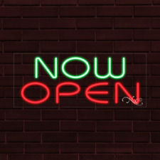 """Brand New """"Now Open"""" 32x13X1 Inch Led Flex Indoor Sign 31452"""