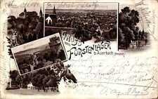 LITHO GRUSS AUS AUERBACH HESSEN b BENSHEIM KR BERSTRASSE FÜRSTENLAGER 5BILD 1899