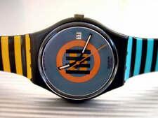 CORAL GABLES! Colorful VERTICAL STRIPES w Retro Design Swatch w DATE! NOS-RARE!