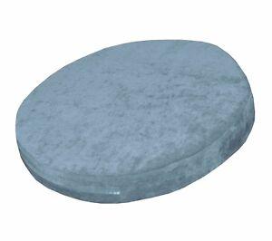 ma10r Aqua Chenille 3D Round Shape Thick Seat Cushion Cover Custom Size