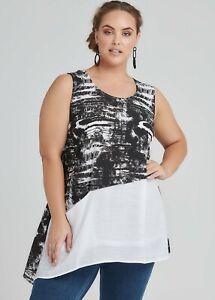 ts Taking Shape Tunic  Size 24 Astratto Italian Mi Amore Style NWT