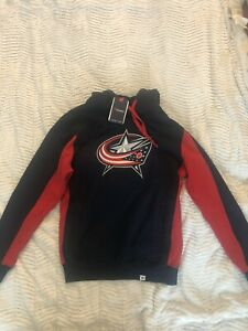 Fanatics NHL Columbus Blue Jacket  Sweatshirt Lace Up Hoodie Men's Medium NWT