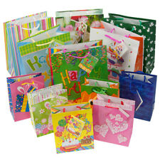 12pc Gift Bags Set Birthday Valentines Easter Halloween Bulk Small Lot Handles