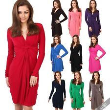 Polyester Long Sleeve Plus Size Party Dresses for Women