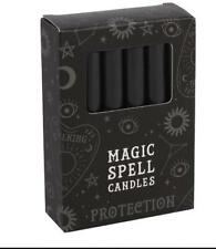 Grindstore 12 Magic Spell Candles - Protection Black 10cm